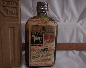 White Horse Cellar Whisky bottle and case
