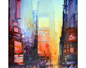 Times Square N.Y. Limited Edition Giclee print Signed and numbered by the artist Martin Oates. *Buy two get one free*