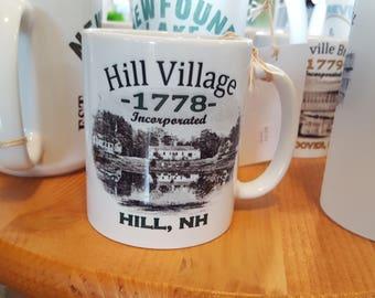 Hill Village 1778 Coffee Mug, Frosted Mug, Mason Jar
