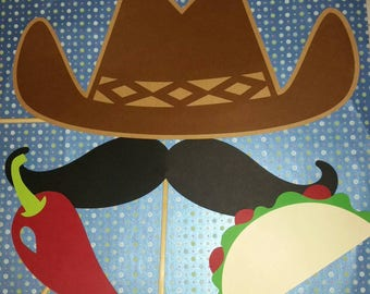 Mexican Fiesta Photo Booth Props Ready to Ship
