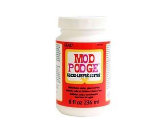 Plaid Mod Podge - Gloss 8 Oz. (236ml) - Decopatch Decoupage, glue sealer varnish all in one.