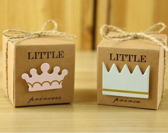 Little Princess/Prince Paper Kraft Gift Boxes