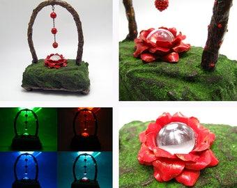 Handmade Night light Home decor Night lamp Night light polymer clay RGB light LED lamp Led night lights