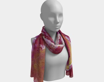 Day Glow Fire Long Scarf