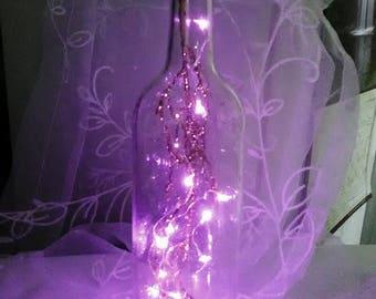 Wine Bottle (Clear) & Purple Fairy Lights