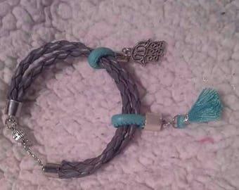 Bracelet gray blue