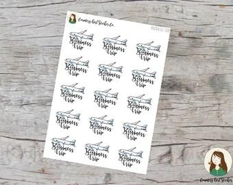 Business Trip Planner Stickers | ECLP HP TN |