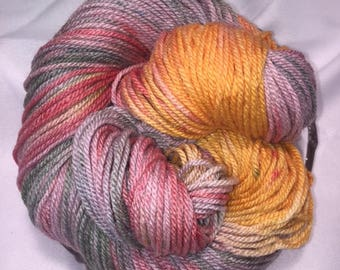 Stargazer, Worsted Weight, Hand Painted, Multi Color, Hand Dyed Yarn, Shaker Dyed, Silk, Superwash Merino, Yarn