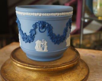 Blue WEDGWOOD porcelain planter
