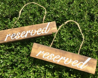 Wedding Wood Reserved Sign