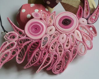 Abstractly Art Decorative Designed Filigree Handmade Jewelry Lightweight Necklace Paper Quilling Unique Women's jewelry Fashion Accessories