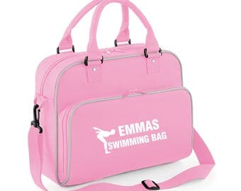 iLeisure Girls Personalised Name Swimming Kit Bag.