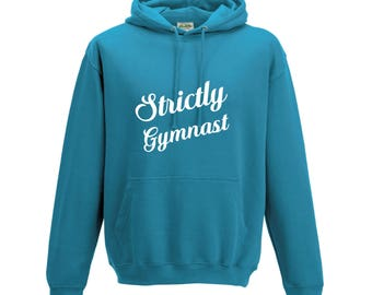 iLeisure Girls Strictly Gymnast Hooded Top with White/Black Print