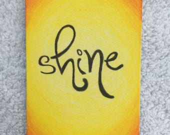 Original Art Card - Shine