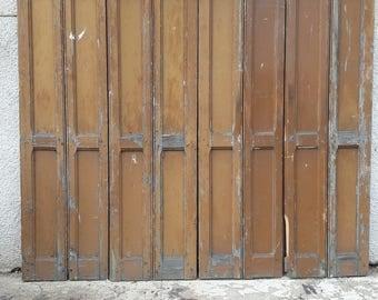 8 strands worn wood trim painted ep 1930 228.5 cm