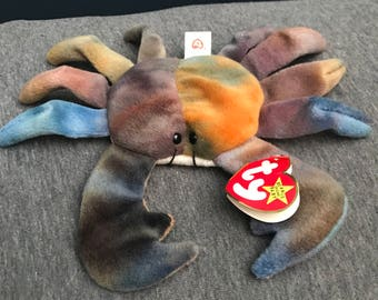 RARE Claude the crab beanie baby! PVC pellets! MINT condition!