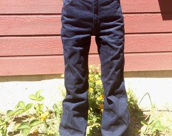 Vintage 70s Maverick Dark Denim High Waist Jeans