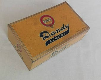 Antique Manoli Dandy empty cigarette tin