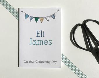Personalised Christening card - Christening card - Baptism card - Baby card - Custom christening card