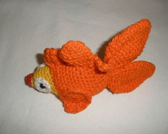 Amigurumi crocheted fish