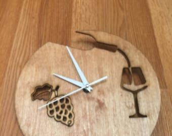 Laser Cut Wood Wall Clock - Wall Decor