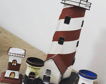 Lighthouse Candle Holder Set