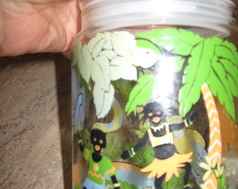 Jungle Glass Jar with tight-fitting Lid