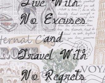 Travel Art - No regrets