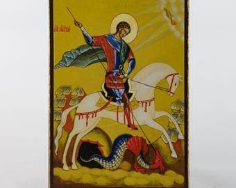 Christian Icon of St. George, catholic icons and orthodox icons