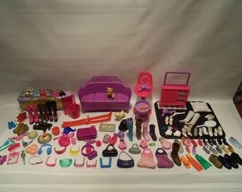 120 Piece Vintage Barbie Accessory Lot