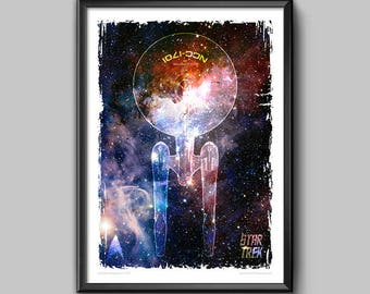 "Star Trek Enterprise fan art poster 13x19"""