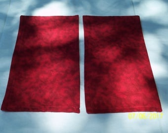 Red  Reversible Seat Belt Covers by ND Krazy Krafts