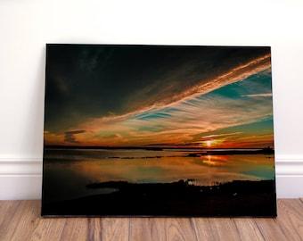 Sunset landscape wall art canvas