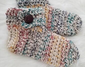 Ready to ship women's slipper socks in Hudson Bay size 6.5-8