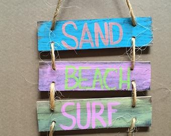 Sand, Beach, Surf, Relax sign