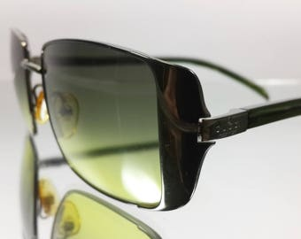 Vintage Authentic 90's [GUCCI] Green Gradient Layer Lens Sunglasses GG2657/S Made In Italy