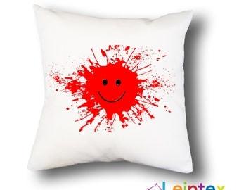 Pillowcase cushion cover 40x40 smiley splash No35