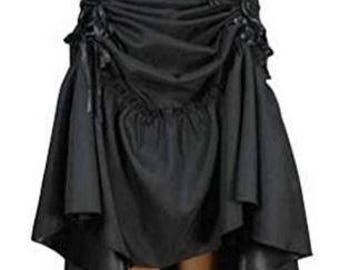 Adjustable Steampunk Skirt - Renaissance Skirt - Pirate Skirt - Pirate Costume - Cosplay Skirt - Sexy Skirt - Gothic Skirt
