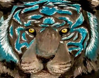 Black Tiger | Acrylic Canvas Painting