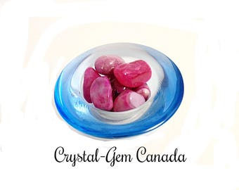 2 (two) beautiful pink Agate, Pocket Stones, - Gemstone for relaxation, pace, and purification. Gemstone infused w  Reiki.