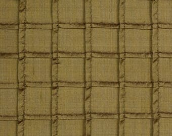 Pin Tuck Pleated Basil Green Silk - Eastern Accents Fabric
