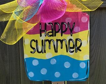 Happy Summer Popsicle Door Hanger