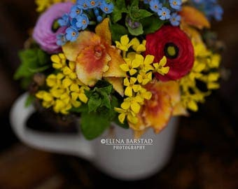 Handmade bouquet, flowers, decoration, decor, polymer clay, clay art, clay flowers, deco clay