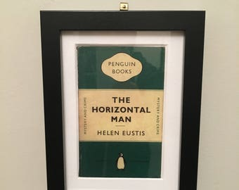 Classic Penguin Book cover print- framed - The Horizontal Man