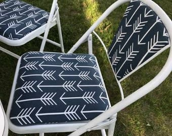 vintage up-cycled folding chairs