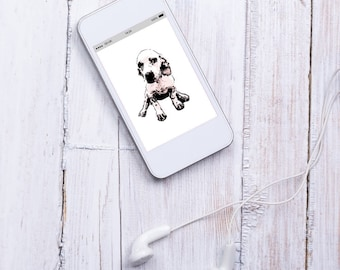 Cotton cute puppy dog iPhone mobile cellphone phone wallpaper screensaver background