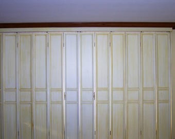 Solid wood French shutters