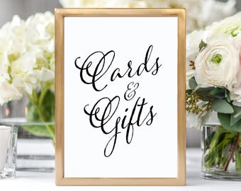 Wedding Cards and Gifts Sign Wedding Reception Sign Rustic Wedding Decor Cards and Gifts Wedding Sign Wedding Decorations