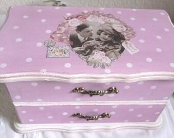 Lovely romantic shabby chic jewelry box