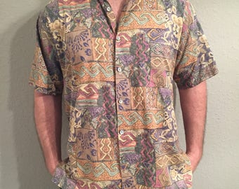Tori Richard Honolulu Mens Hawaiian sz L